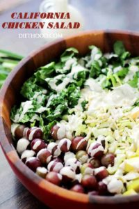 California Chicken Salad with Creamy Yogurt Dressing Recipe