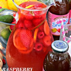 Raspberry Iced Tea Punch – Fresh berries, limeade and Raspberry Iced Tea come together to create this incredibly delicious and refreshing summer Punch drink!