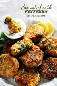 Spinach Lentil Fritters Recipe | Easy Crispy Fritter Recipe