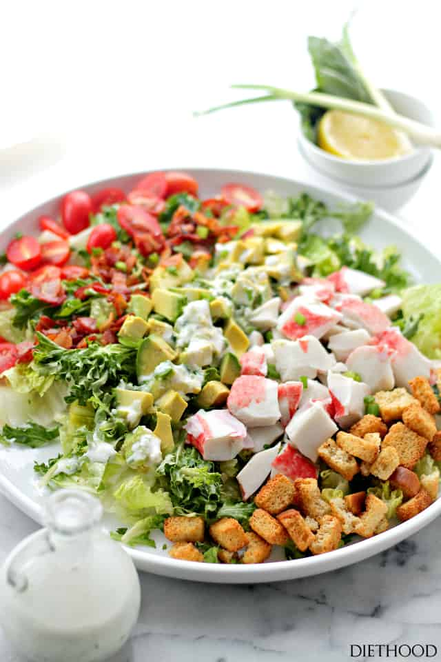 Bacon, Crab and Avocado Salad Recipe