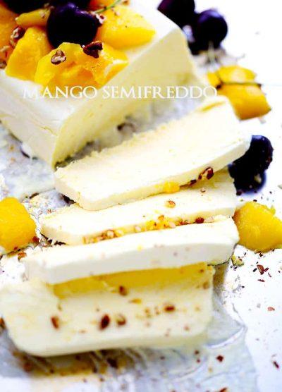Mango Semifreddo | www.diethood.com | Bright, delicious mango meets luscious and creamy ice cream cake!