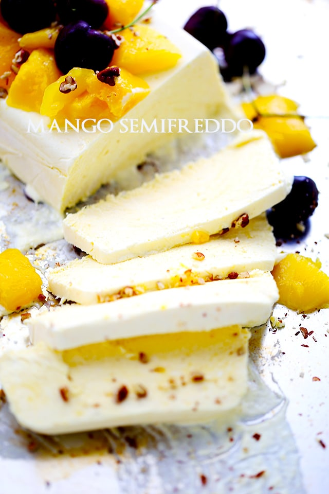 Mango Semifreddo | www.diethood.com | Bright, delicious mango meets luscious and creamy ice cream cake!