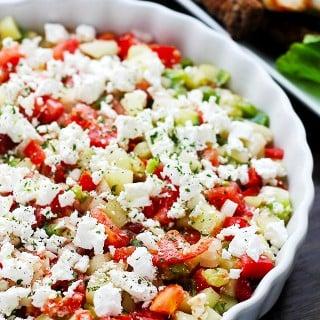 Shopska Salad {Macedonian Chopped Salad}