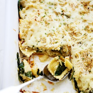 Spinach and Four Cheese Ravioli Lasagna