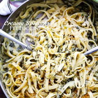 Creamy Spinach Fettuccine