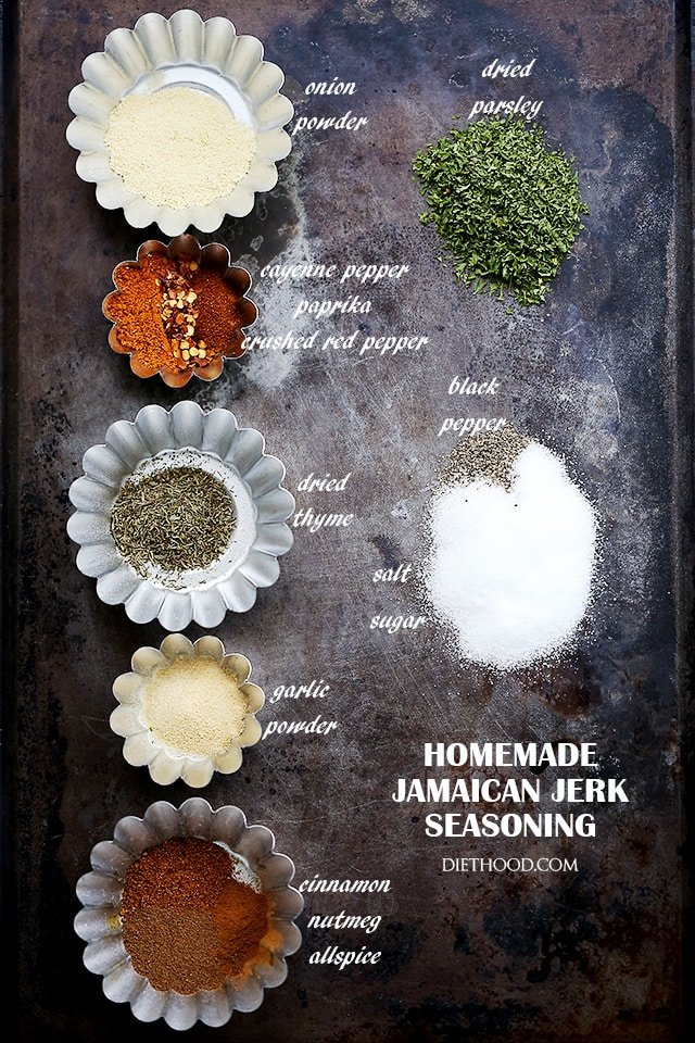 Homemade Jamaican Jerk Seasoning | www.diethood.com | A spicy, sweet, tangy and hot seasoning for chicken, pork and grilled meat.