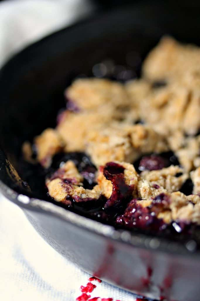 Blueberry Cobbler in a baking dish