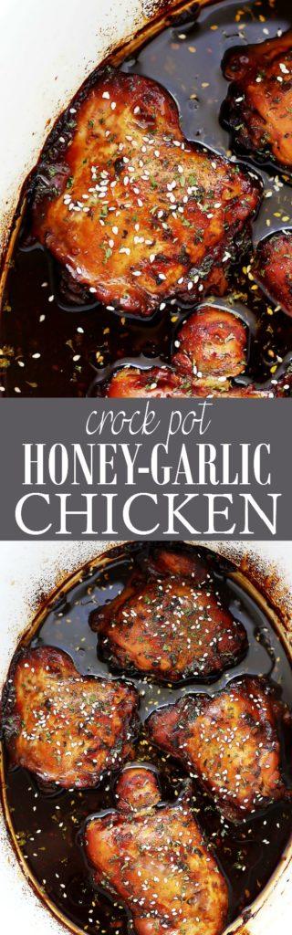 Crock Pot Honey Garlic Chicken Recipe   Super Easy & Delicious Recipe