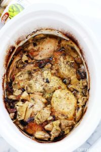 Crock Pot Chicken Thighs Recipe with Artichokes and Sun-Dried Tomatoes