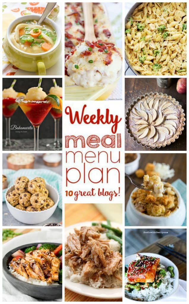 Weekly Meal Plan collage with 10 recipe photos