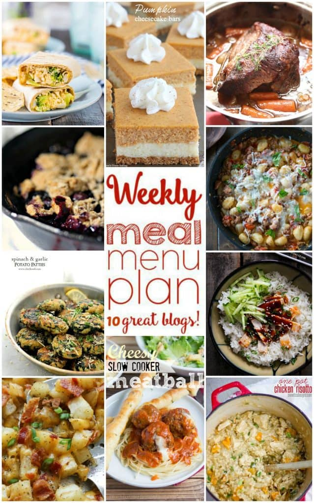 Title Image for Week 8 Meal Plan recipes