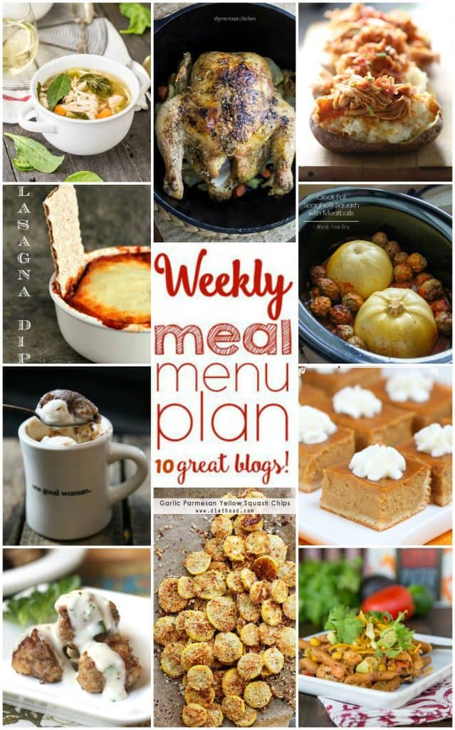 Title Image for Week 9 Meal Plan recipes