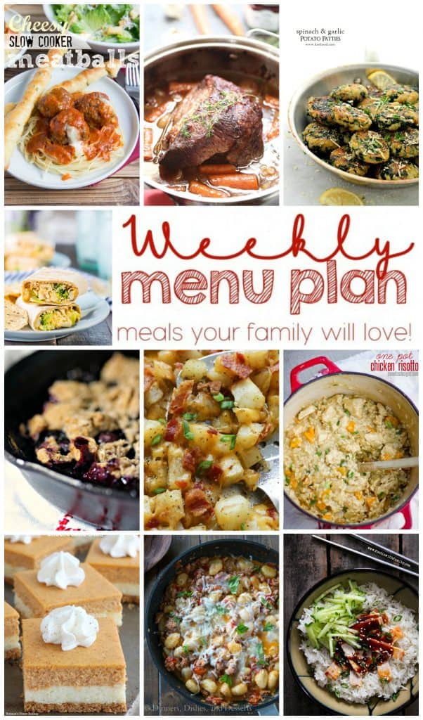 Pinterest collage for Week 8 Meal Plan recipes