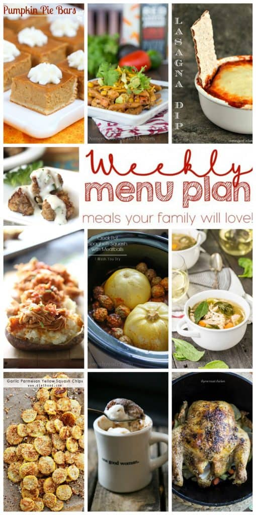 Pinterest collage for Week 9 Meal Plan recipes