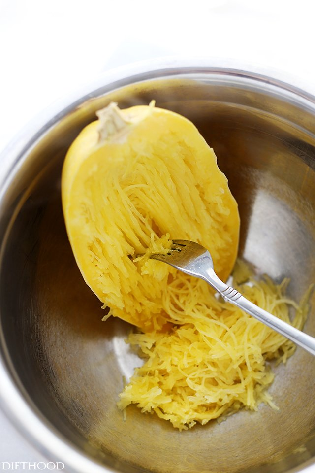 how to cook spaghetti squash in the microwave diethood