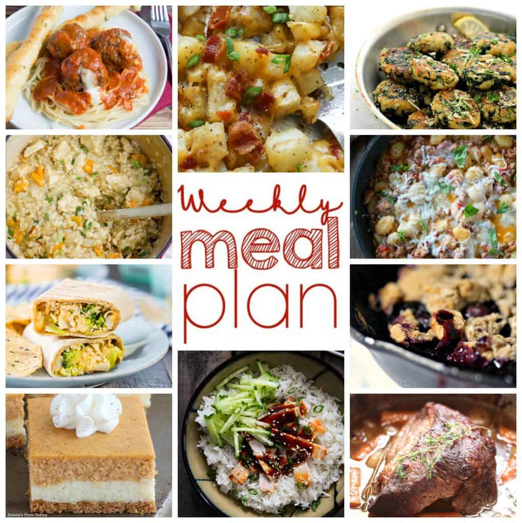 Square Pinterest collage for Week 8 Meal Plan recipes