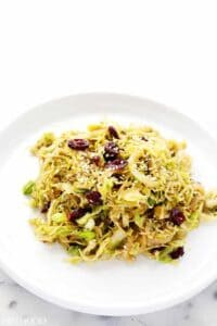 Shaved Brussel Sprout Stir Fry Recipe