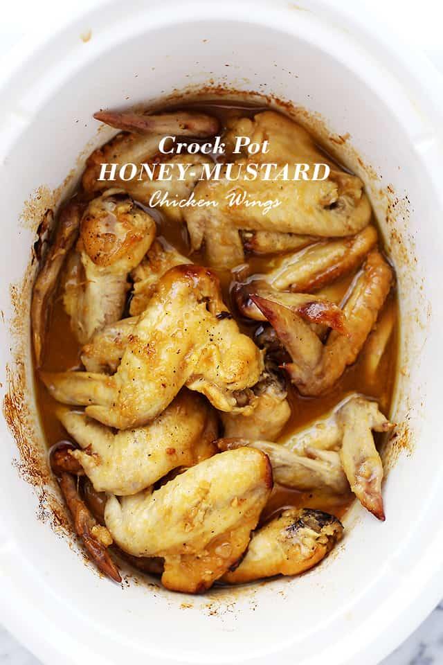 Crock Pot Honey Mustard Chicken Wings Recipe | Easy Crock Pot Recipe!