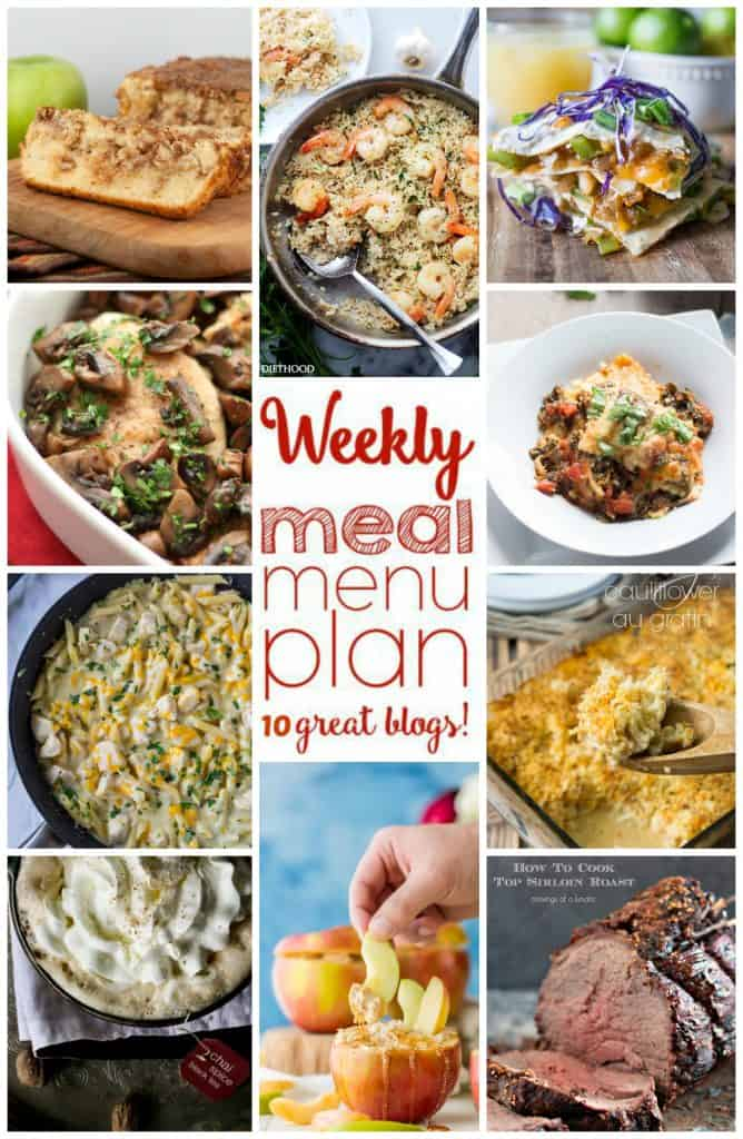 Collage Photo for Week 14 Meal Plan with examples of 10 recipes