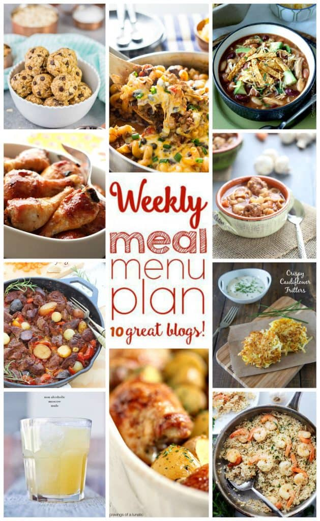 Week 13 Meal Plan collage with photos of 10 recipes