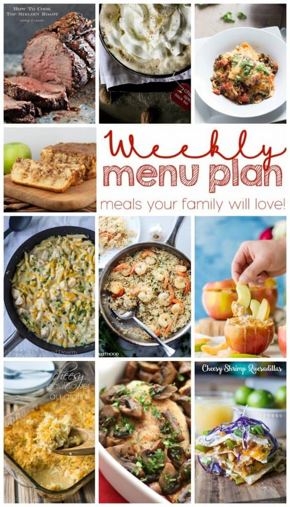 Pinterest Collage for Week 14 meal plan with examples of 10 recipes