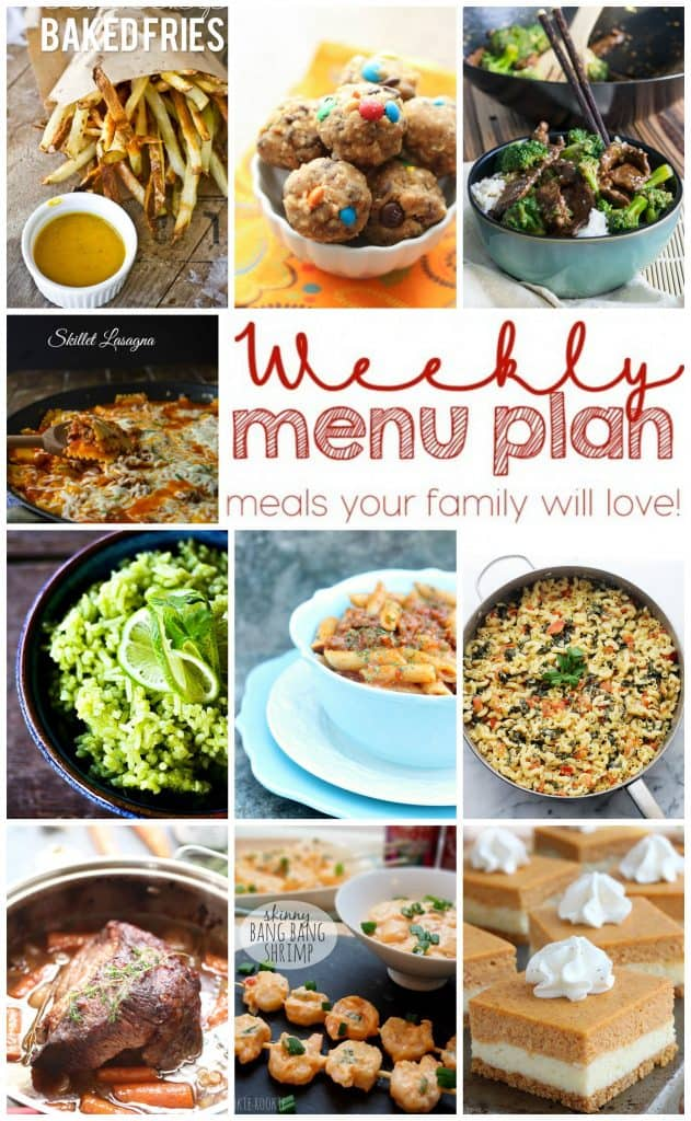 Week 12 Pinterest Meal Plan Collage with photos of 10 recipes
