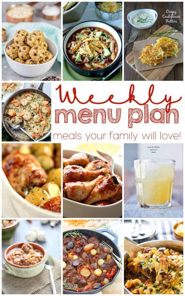 Pinterest Collage for Week 13 Meal Plan with examples of 10 recipes
