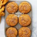 Cinnamon Sugar Pumpkin Muffins | Easy Pumpkin Recipe for Fall Baking!