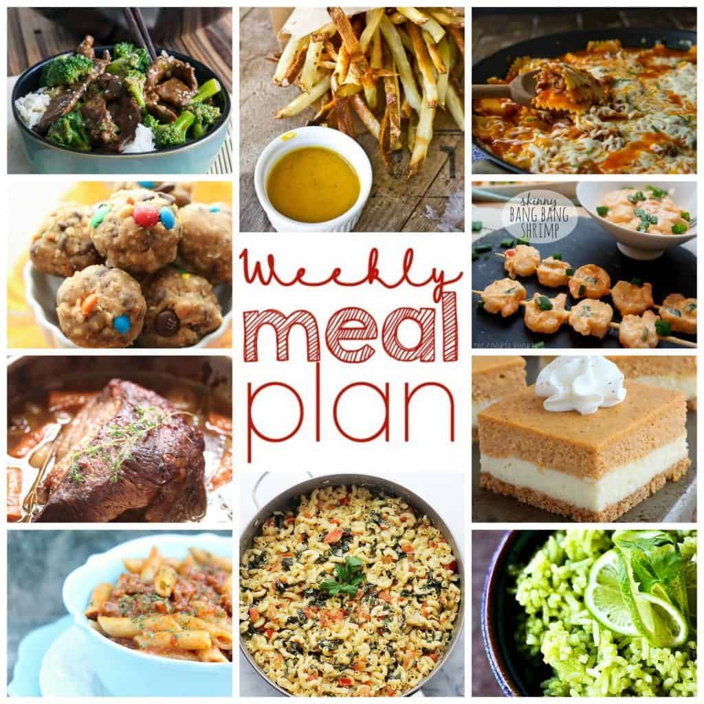 Square collage of Week 12 Meal Plan with photos of 10 different recipes