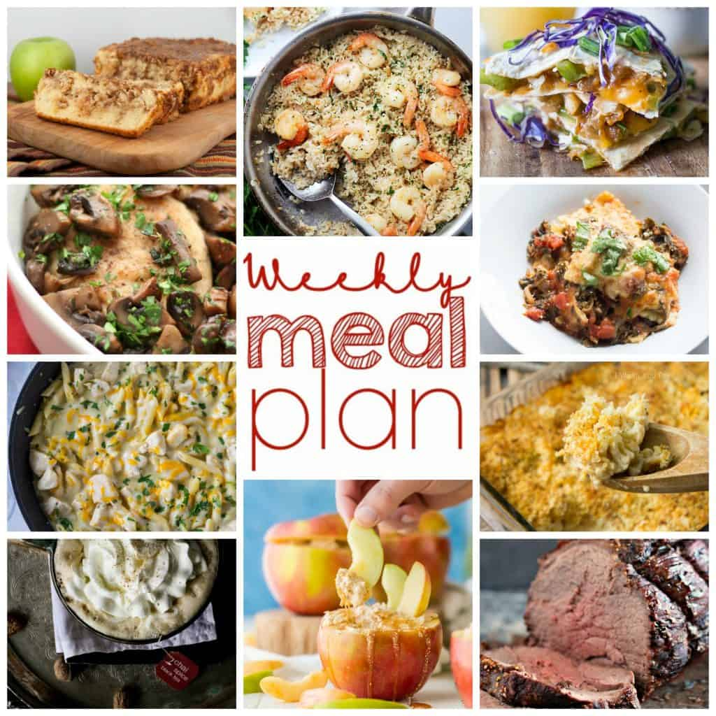 Square collage of Week 14 Meal Plan with examples of 10 recipes