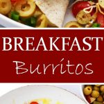 Breakfast Burritos | www.diethood.com | Loaded with eggs, cheese, tomatoes and olives, these delicious burritos are going to be the delicious solution to your busy mornings!