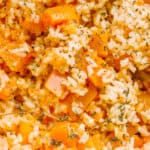 Butternut Squash and Rice Casserole
