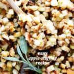 Easy Apple Stuffing Recipe | Thanksiving or Christmas Turkey Stuffing!