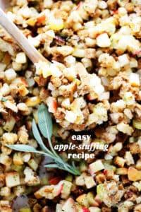 Easy Apple Stuffing Recipe   Thanksiving or Christmas Turkey Stuffing!