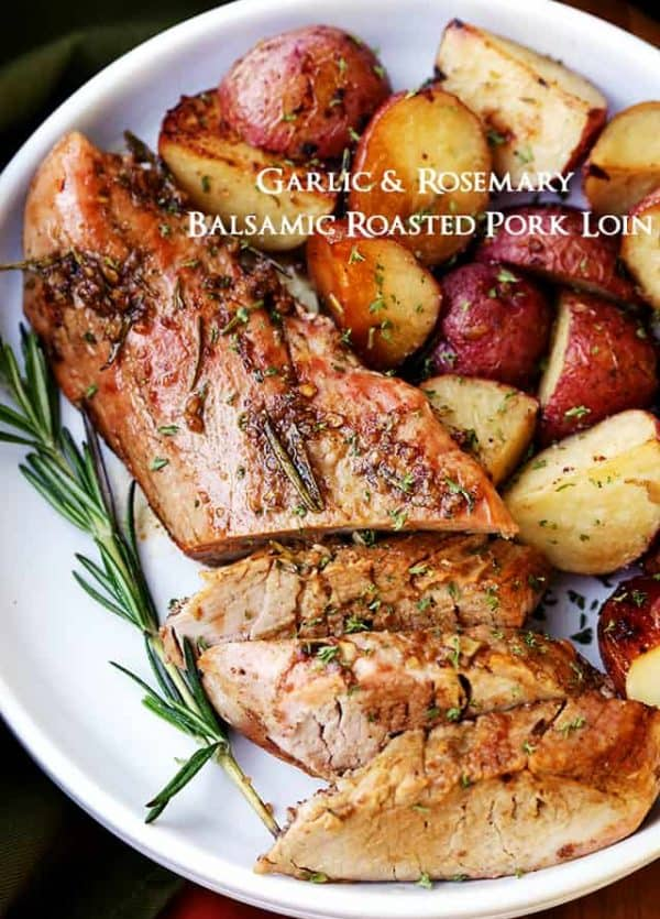 pork loin, holiday dinners, balsamic recipes
