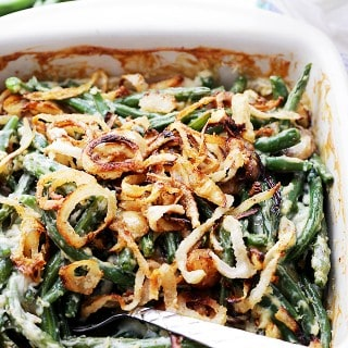 Lightened-Up Creamy Green Bean Casserole