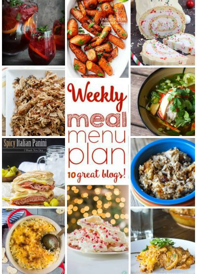 Weekly Meal Plan Week 19 - 10 great bloggers bringing you a full week of recipes, including dinner, side dishes, drinks, and desserts!