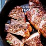 Oven Grilled Steak - Delicious, tender, and juicy thick-cut steak grilled in the oven!