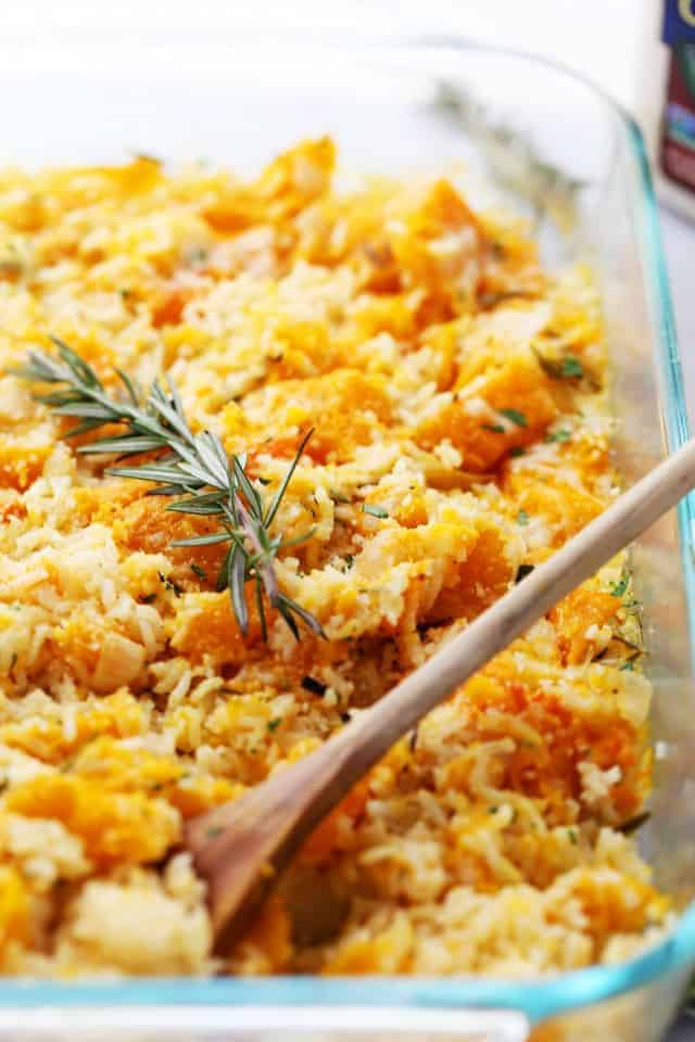 Butternut Squash and Rice Casserole Recipe | Thanksgiving Side Dish
