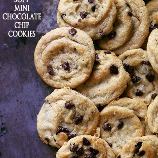 Soft Mini Chocolate Chip Cookies