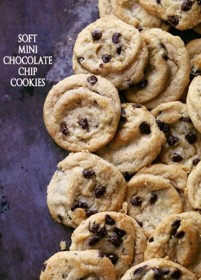 Soft Mini Chocolate Chip Cookies - No one can resist a soft and chewy cookie, especially when it's in mini form!