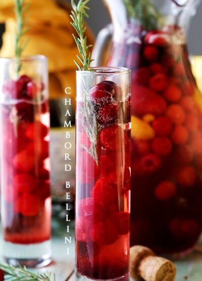 Chambord Bellini - A wonderful combination of Prosecco and Chambord Liqueur create this light, refreshing, delicious and bubbly elegant sipper.