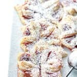Raspberry Jam Filled Puff Pastries Recipe