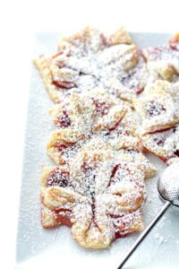 Raspberry Jam Filled Puff Pastries| Easy Homemade Christmas Pastries