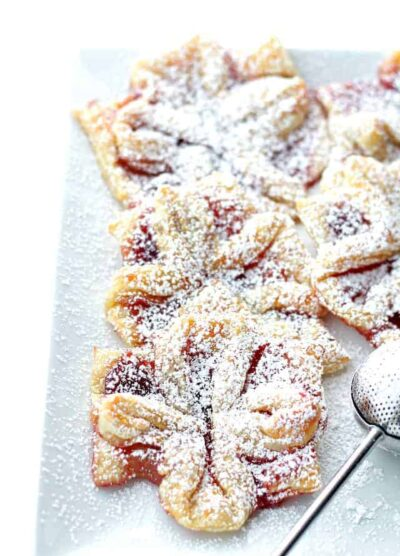 Raspberry Jam Filled Puff Pastries | Easy Homemade Christmas Pastries