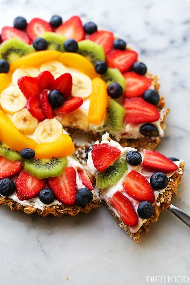 Sliced Breakfast Fruit Pizza