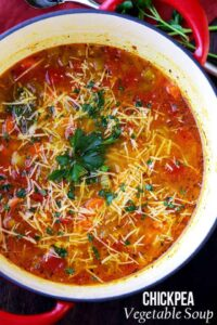 Chickpea Vegetable Soup Recipe | Easy and Healthy Soup Recipe
