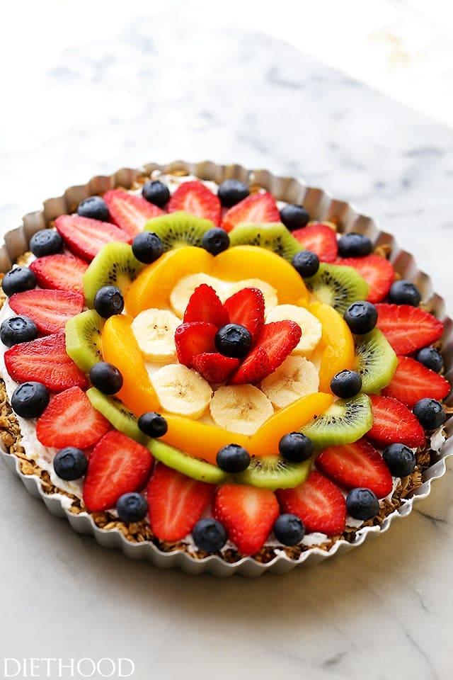 Healthy Breakfast Fruit Pizza Recipe | Diethood