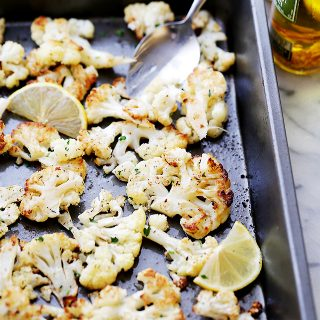 Lemon Paprika Roasted Cauliflower Recipe