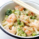 Lightened-Up Shrimp Fettuccine Alfredo